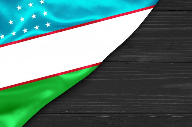 Drapeau de l'ouzbékistan copie espace