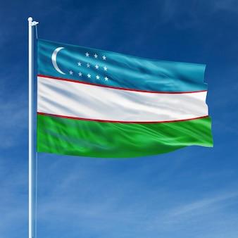 Drapeau de l'ouzbékistan