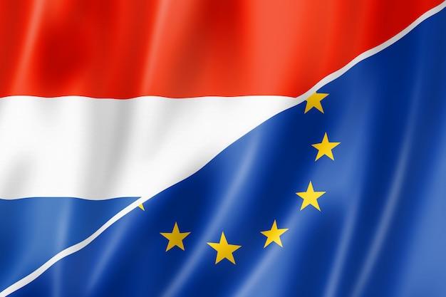 Drapeau des pays-bas et de l'europe
