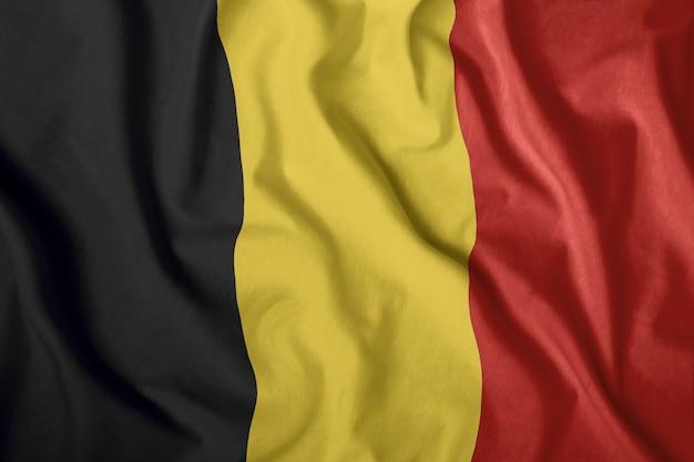 Drapeau réaliste de la belgique
