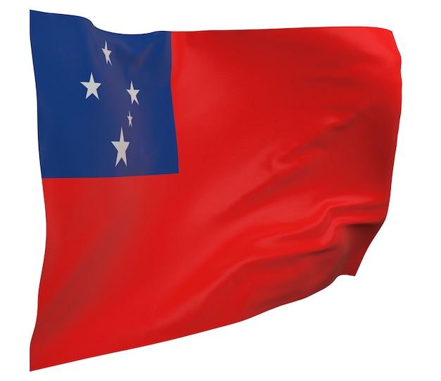 Drapeau samoa isolé. agitant la bannière. drapeau national des samoa