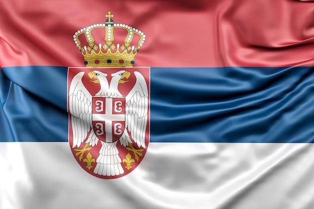 Drapeau de serbie