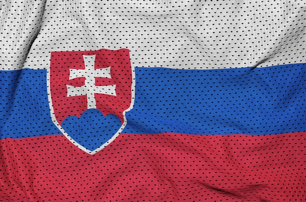 Drapeau slovaquie imprimé sur un vêtement de sport en nylon et polyester