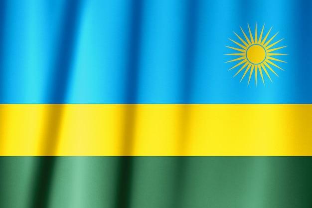 Drapeau en soie du rwanda. drapeau du rwanda de tissu en soie.