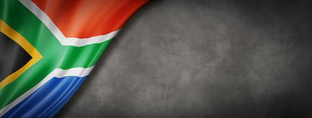 Drapeau sud-africain sur mur de béton