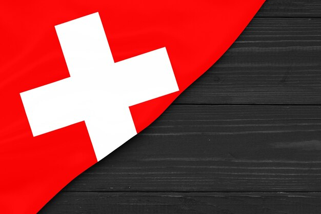 Drapeau de la suisse copy space