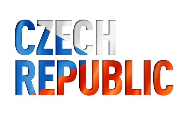 Drapeau tchèque drapeau police de texte