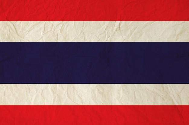 Drapeau de la thaïlande avec du vieux papier vintage