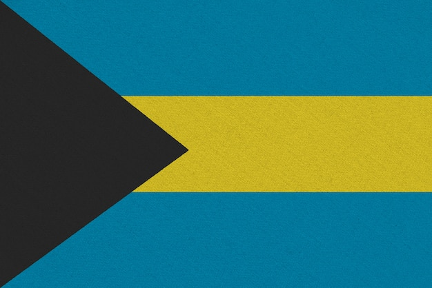 Drapeau tissu bahamas