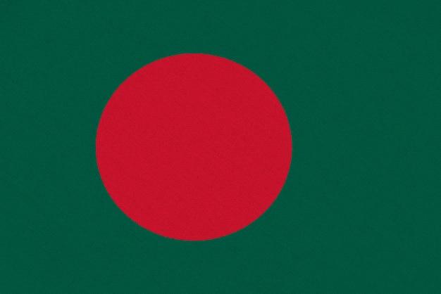 Drapeau tissu bangladesh