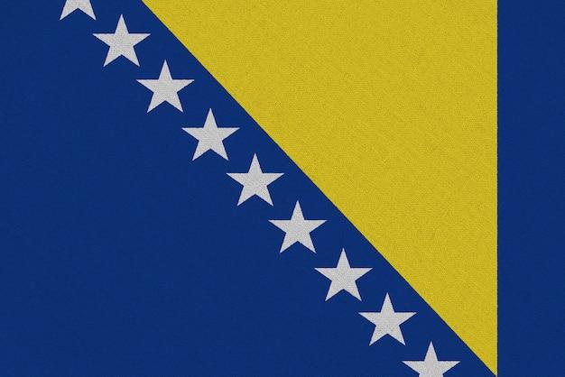 Drapeau tissu bosnie-herzégovine