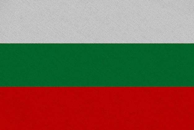 Drapeau tissu bulgarie
