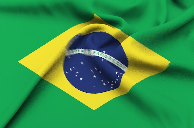 Drapeau de tissu du brésil