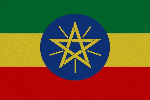 Drapeau tissu ethiopie