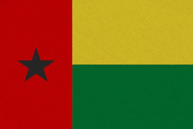 Drapeau tissu guinée-bissau