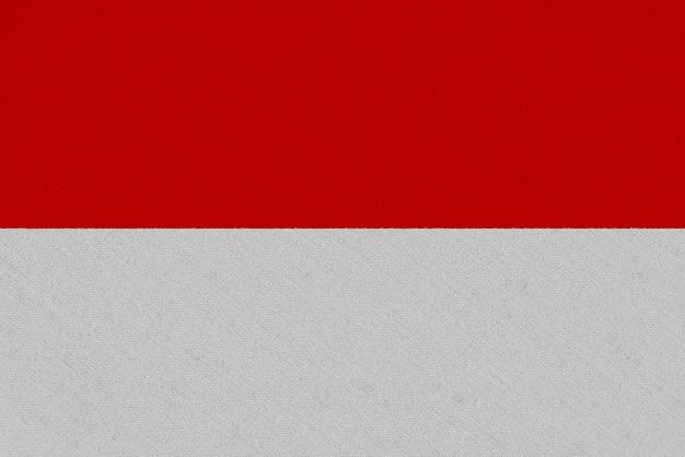 Drapeau en tissu indonésie