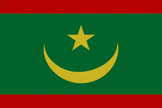 Drapeau tissu mauritanie