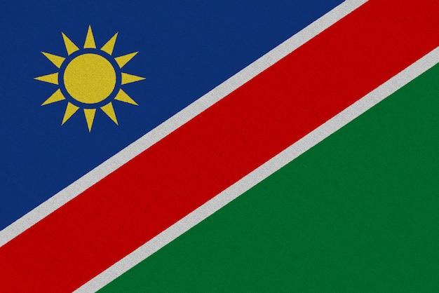 Drapeau tissu namibie