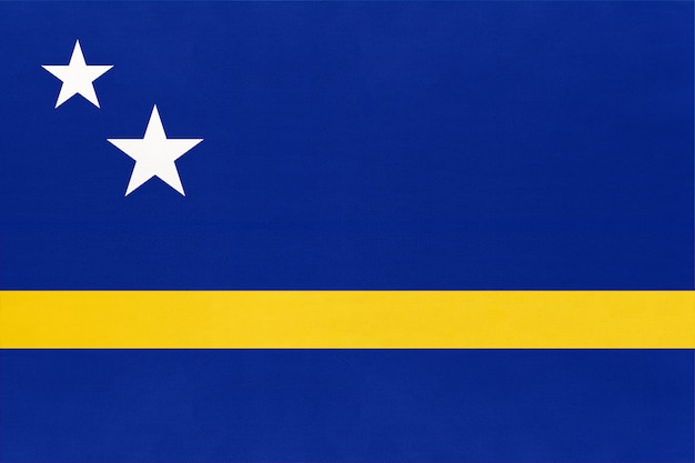 Drapeau de tissu national de curaçao