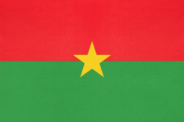 Drapeau de tissu national du burkina faso