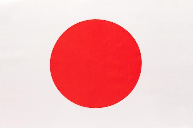 Drapeau de tissu national du japon