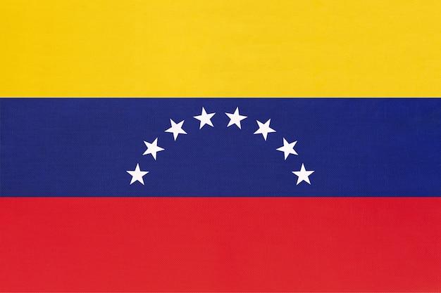 Drapeau de tissu national du venezuela