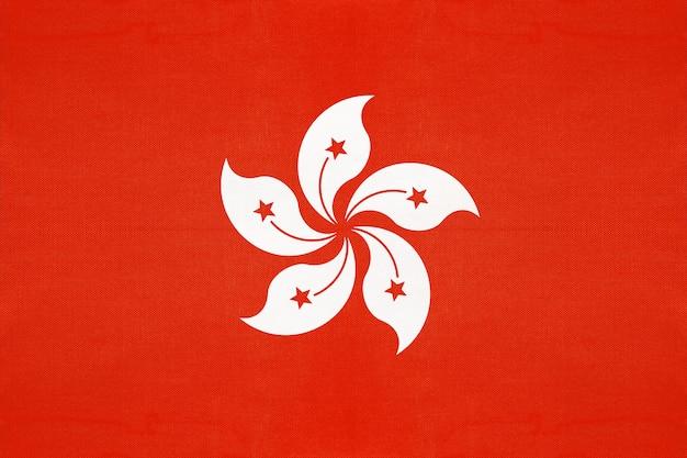 Drapeau de tissu national de hong kong