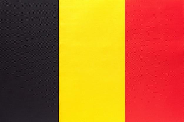 Drapeau de tissu national royaume belgique, fond textile