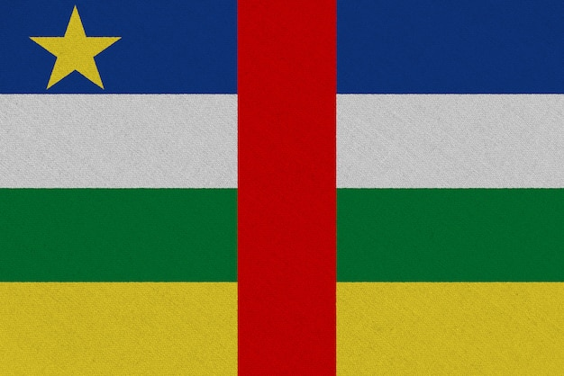 Drapeau en tissu république centrafricaine