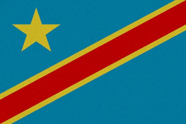 Drapeau en tissu république démocratique du congo