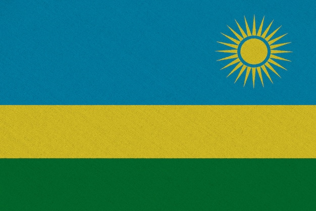 Drapeau tissu rwanda