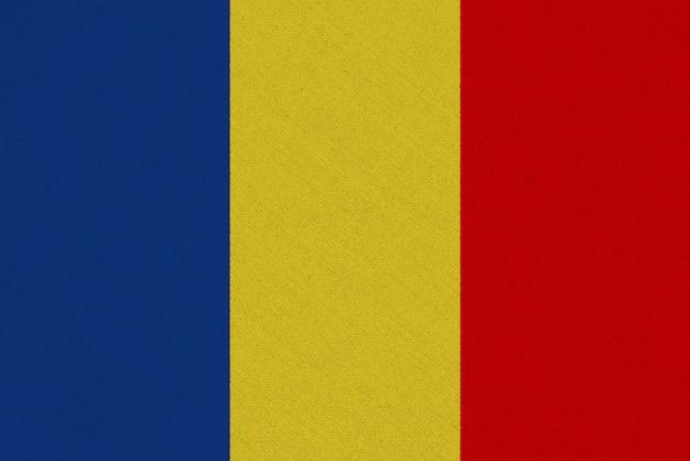 Drapeau en tissu tchad