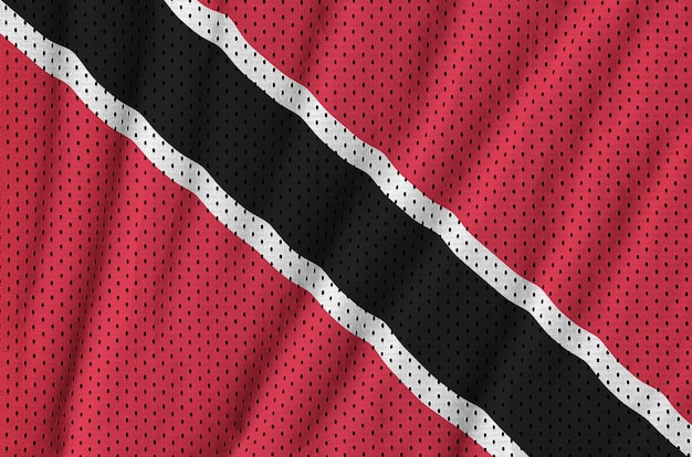 Drapeau trinidadien imprimé sur un filet de nylon et nylon