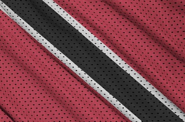 Drapeau trinidadien imprimé sur un vêtement de sport en nylon et nylon