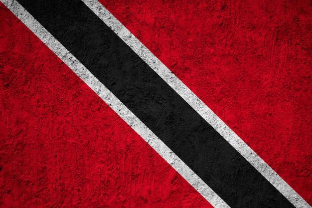 Drapeau de trinité-et-tobago peint sur le mur de grunge