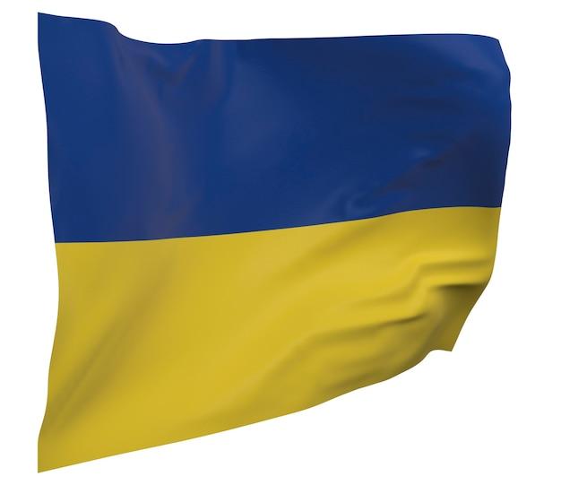 Drapeau de l'ukraine isolé. agitant la bannière. drapeau national de l'ukraine