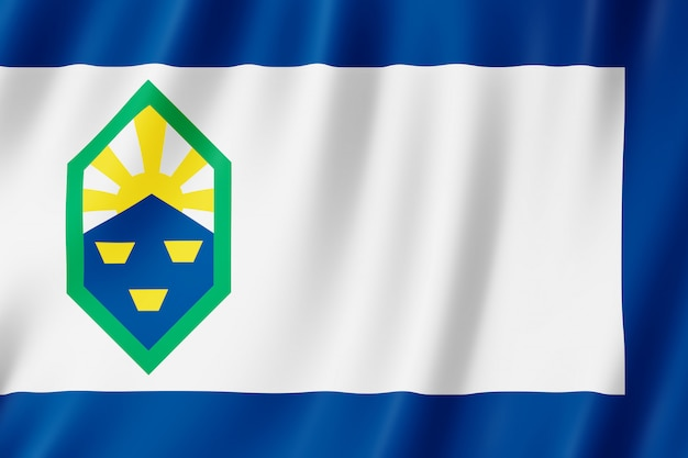 Drapeau de la ville de colorado springs, colorado (us)