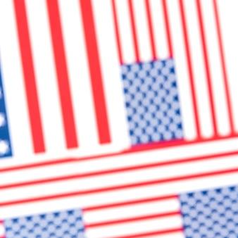 Drapeaux américains floues