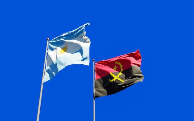 Drapeaux de l'argentine et de l'angola