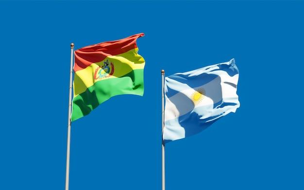 Drapeaux de l'argentine et de la bolivie.
