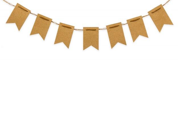 Drapeaux artisanaux fond blanc