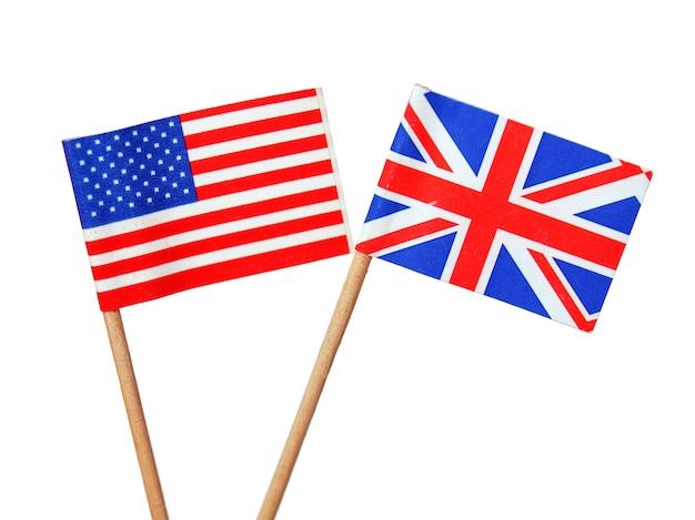 Drapeaux britanniques et américains