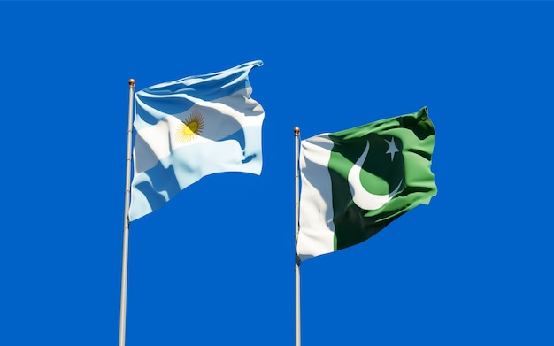Drapeaux du pakistan et de l'argentine.