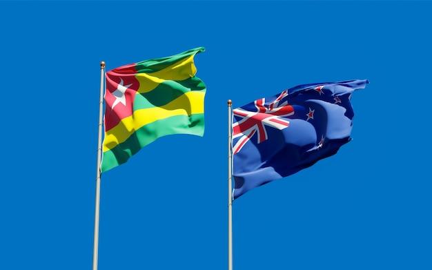 Drapeaux du togo et de la nouvelle-zélande