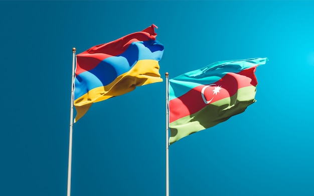 Drapeaux nationaux de l'azerbaïdjan et de l'arménie
