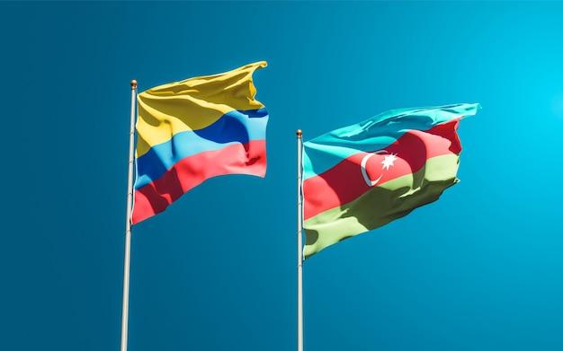 Drapeaux nationaux de l'azerbaïdjan et de la colombie