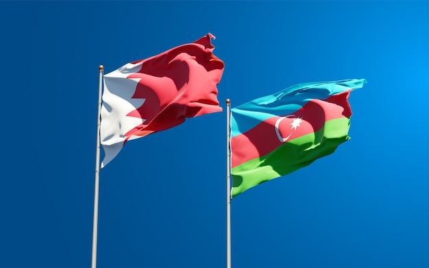Drapeaux nationaux de l'azerbaïdjan et du bahreïn