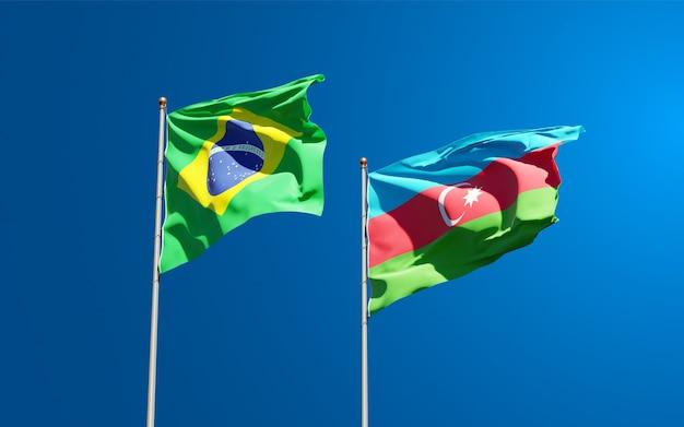 Drapeaux nationaux de l'azerbaïdjan et du brésil