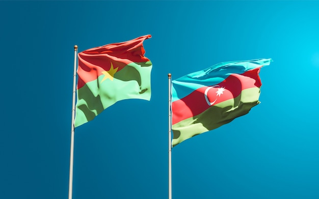 Drapeaux nationaux de l'azerbaïdjan et du burkina faso