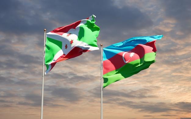 Drapeaux nationaux de l'azerbaïdjan et du burundi